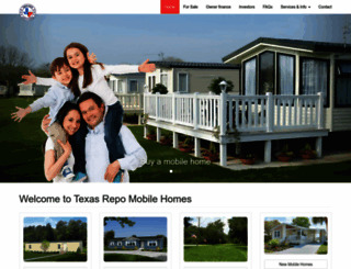 texasrepomobilehomes.com screenshot