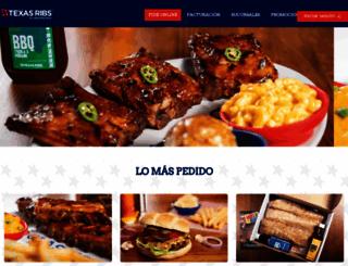 texasribs.com.mx screenshot