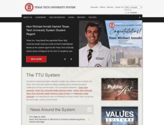 texastech.edu screenshot
