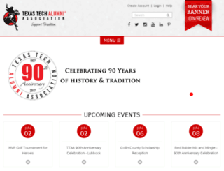 texastechalumni.org screenshot