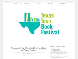 texasteenbookfestival.org screenshot