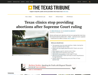 texastribune.org screenshot
