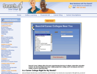 texcareer.search4careercolleges.com screenshot