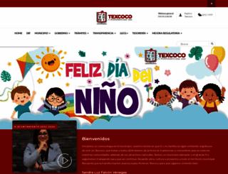 texcoco.gob.mx screenshot