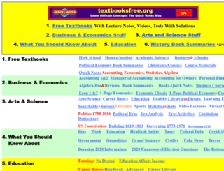 textbooksfree.org screenshot