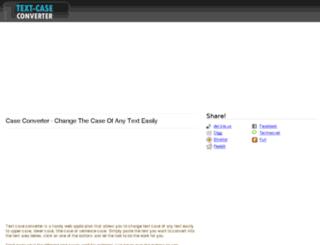 textcase-converter.com screenshot