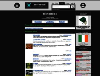 textebook.exionnaire.com screenshot