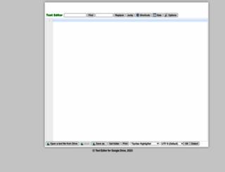 texteditor.nsspot.net screenshot