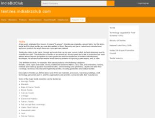 textiles.indiabizclub.com screenshot