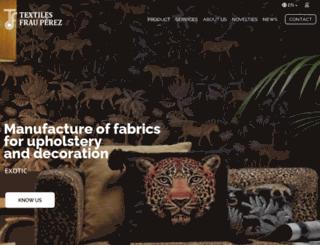 textilesfrauperezsl.com screenshot