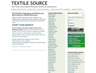 textilesource.com screenshot