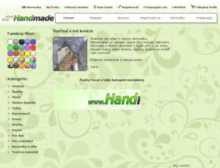 textilne-a-ine-kreacie.handmade.sk screenshot