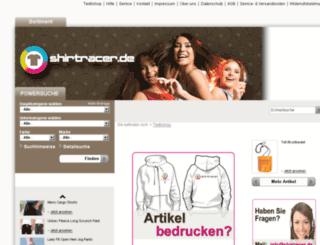 textilshop.shirtracer.de screenshot