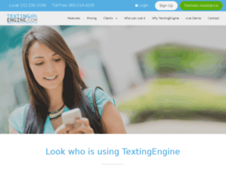 textingengine.com screenshot