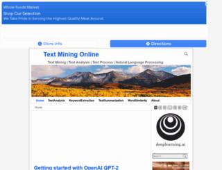 textminingonline.com screenshot