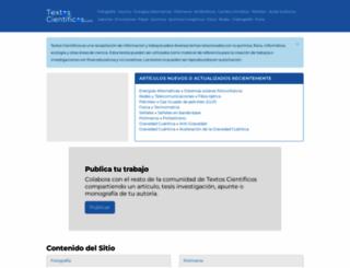 textoscientificos.com screenshot