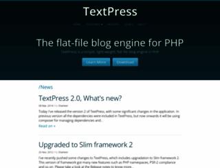 textpress.shameerc.com screenshot