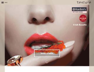 texture-restaurant.co.uk screenshot