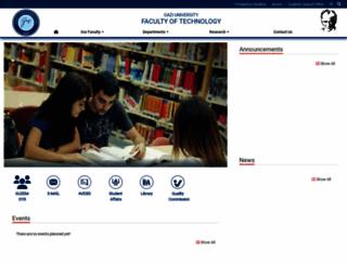 tf.gazi.edu.tr screenshot