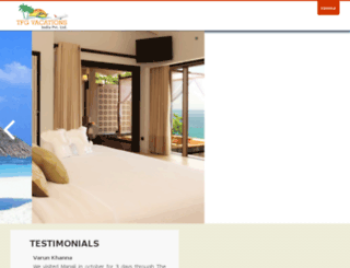 tfgvacationsindia.com screenshot