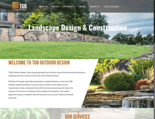 tgboutdoordesign.com.au screenshot
