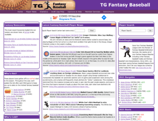 tgfantasybaseball.com screenshot