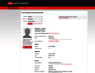 th.fakenamegenerator.com screenshot