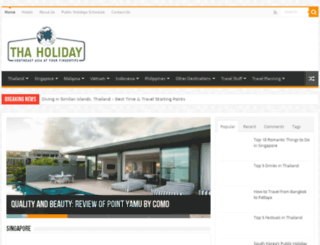 thaholiday.com screenshot