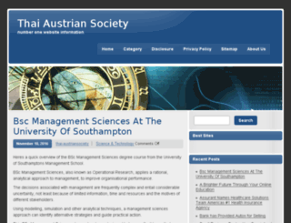 thai-austriansociety.org screenshot