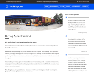 thai-exports.com screenshot