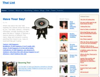 thai-list.com screenshot