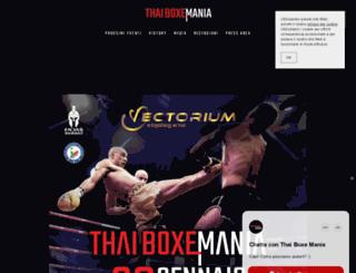 thaiboxemania.com screenshot