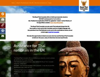 thaiconsul-uk.com screenshot