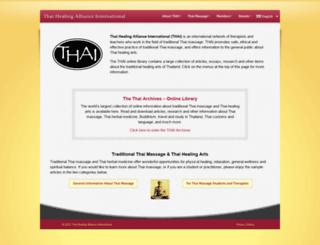 thaihealingalliance.com screenshot