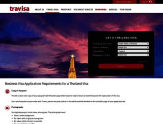 thailand.travisa.com screenshot