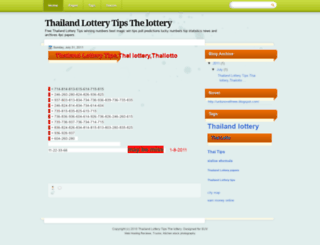thailandlottery4tips.blogspot.com screenshot