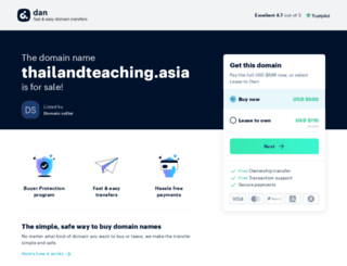 thailandteaching.asia screenshot