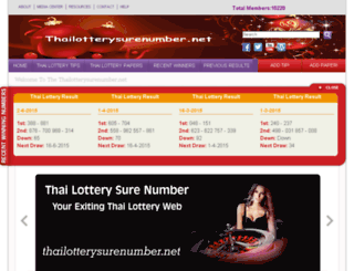 thailotterysurenumber.net screenshot