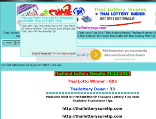 thailotterytips.freeforums.biz screenshot