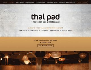 thaipadoxted.co.uk screenshot