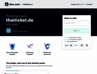 thaiticket.de screenshot