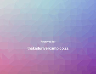 thakadurivercamp.co.za screenshot
