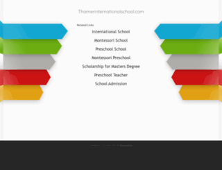 thamerinternationalschool.com screenshot