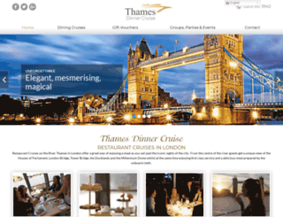 thamesdinnercruise.co.uk screenshot
