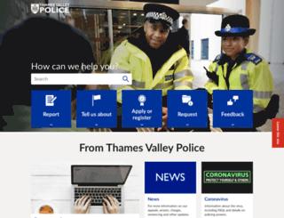 thamesvalley.police.uk screenshot