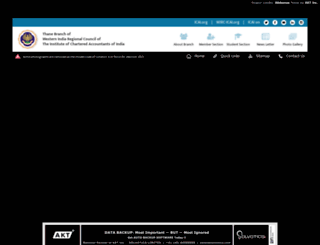 thane-icai.org screenshot