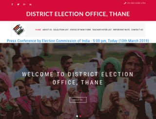 thaneelection.com screenshot