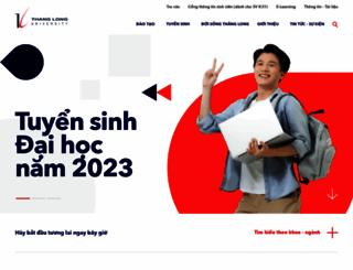 thanglong.edu.vn screenshot