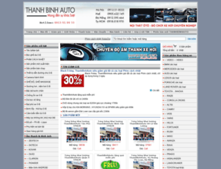 thanhbinhauto.com screenshot