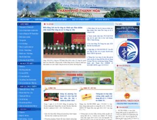 thanhhoacity.gov.vn screenshot